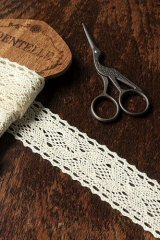 Cotton Lace Ribbon - 4.3cm x 1 Yard