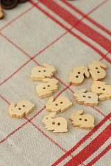 Natural Wooden Button Set - 10p