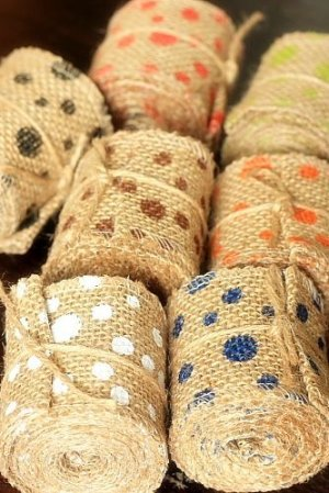 "Photo3: SALE - Natural Wide Linen Ribbon Roll Rustic Vintage Wedding Decor (6cm x 2m or 2.4Cute Stationery"" x 2.2 yds)"""
