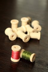 Natural Wooden Spool Bobbin (10p)