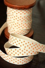 Pure Cotton Print Ribbon - Polka Dots (1.5cm x 1 yard)