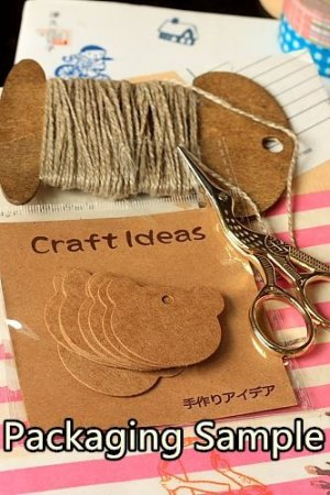 Photo3: Kraft BROWN ECO friendly tags - Heart