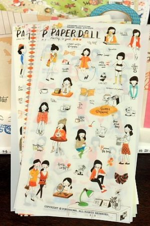 Photo1: Kawaii Pony Brown Deco Planner Sticker Pack -  Paper Doll