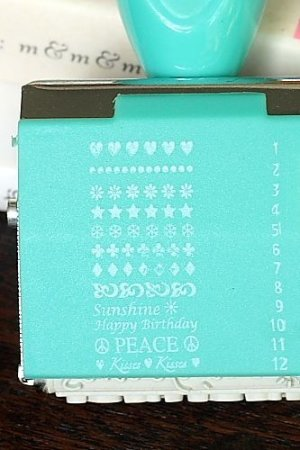 Photo3: Cute Roller Message Patterns Stamp