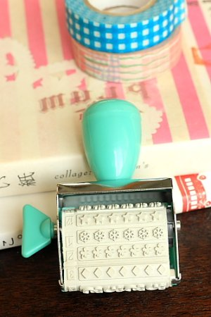 Photo2: Cute Roller Message Patterns Stamp