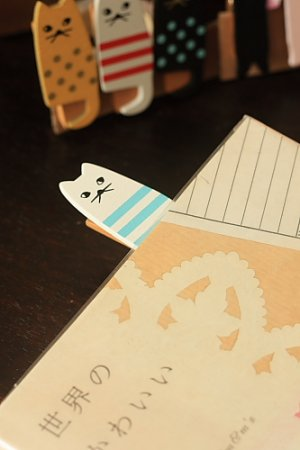 Photo2: Kawaii Wooden Clip - Little Cats