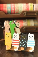 Kawaii Wooden Clip - Little Cats