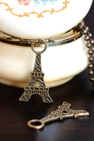 Photo1: SALE-Antique Style Bronze Charms - Tower