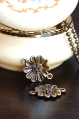 SALE-Antique Style Bronze Charms - Flower