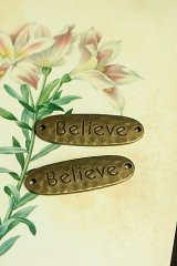 SALE - Lovely Alloy Accessory Charm - believe