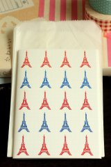 Japanese Designer Folded Letter Set - Eiffel Tower