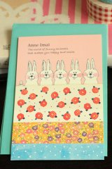 Japanese Designer Letter Set - Rabbit In Hot Spring