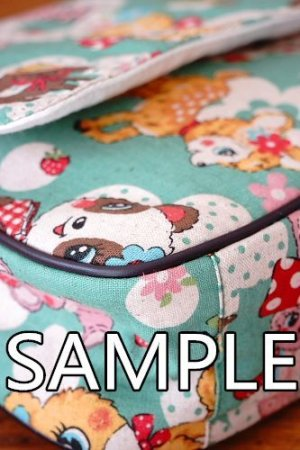 Photo2: Free Shipping Kawaii Japanese Kokka Fabric Messenger Bag