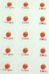 SALE - Cute pre-printed labels - Strawberry