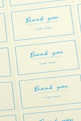 SALE - Cute pre-printed labels - Thank you