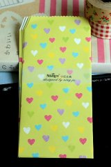 Kawaii Slim Envelope Set - hearts