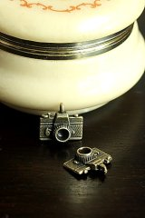 SALE-Antique Style Bronze Charms - Little Camera