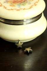 SALE - Antique Style Bronze Charms - Stars