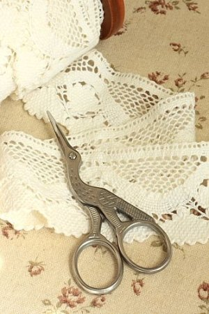 Photo1: Antique Style Scissors - E stainless