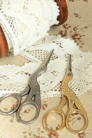 Photo2: Antique Style Scissors - E stainless