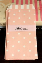 Kawaii Slim Envelope Set - pink polka dots