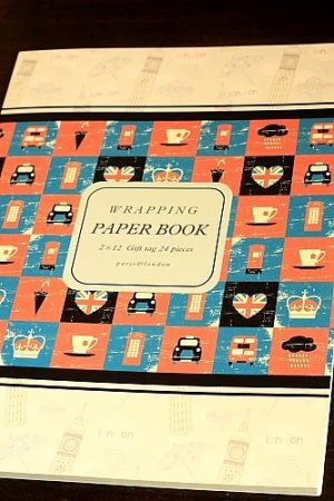 Photo1: Super Cute Gift Wrapping Paper Book