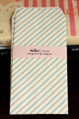Kawaii Slim Envelope Set - blue stripe