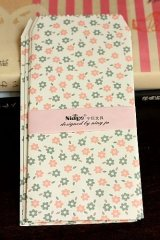 Kawaii Slim Envelope Set - blue pink flowers