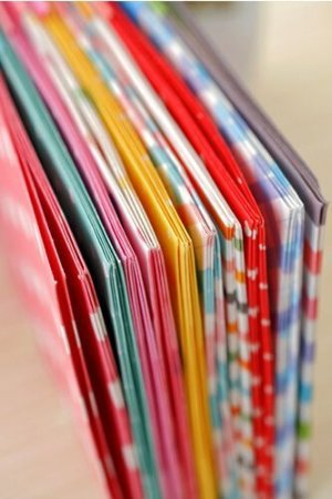 Photo2: Kawaii Slim Envelope Set - colorful hearts