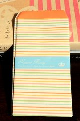 Kawaii Slim Envelope Set - colorful stripe