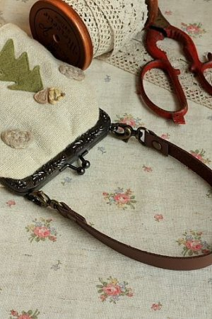 Photo5: Microfiber Leather Bag Handle with Two Lobster Claw Clasps
