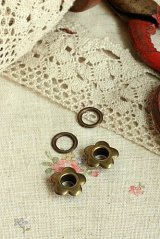 Antique Style Brass Flower Rivet