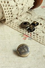Antique Bronze Sewing Bag Purse Fastener Snap Press Button