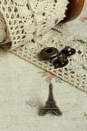 Photo1: Antique Bronze Sewing Bag Purse Fastener Snap Press Button