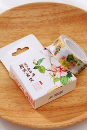 Photo1: SALE - Lovely long masking tape - Daily Flowers