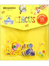 SALE - kawaii Japanese Round Top Watercolor Flake Sticker Seal Sack - Circus