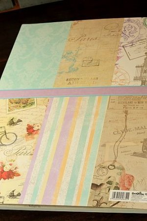 Photo2: XXXL size Gift Wrapping Paper Book - Vintage Patterns 24 sheets