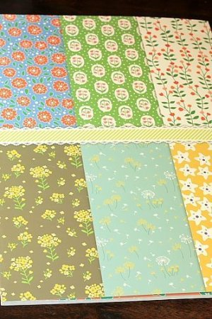 Photo3: XXXL size Gift Wrapping Paper Book - Flowers 24 sheets