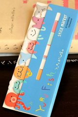Kawaii Sticky Notes Memo Marker - Yuru Fish