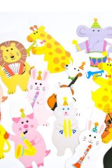 Kawaii Party Flags Garland - Animals