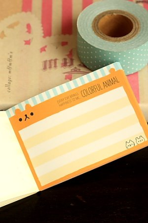 Photo3: Japanese Kawaii Mini Note Memo Pad - Colorful Animal