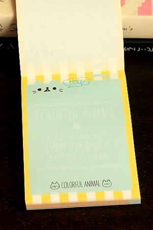 Photo2: Japanese Kawaii Mini Note Memo Pad - Colorful Animal