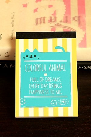 Photo1: Japanese Kawaii Mini Note Memo Pad - Colorful Animal