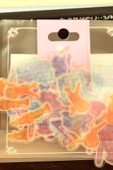 SALE - Japanese Kamio Frost Paper Flake Sticker Sack - Music