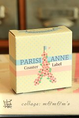 SALE - Lovely Scrapbooking Paper Label Sticker Box - Parisi Anne
