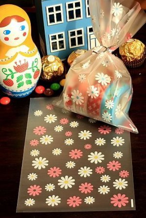 Photo1: Kawaii Gift Wrapping Candy Bag - Flower (10p)