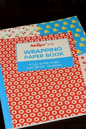 Photo1: cute Gift Wrapping Paper Book