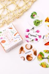 SALE - Lovely Paper Label Sticker Box -  Delicious Food