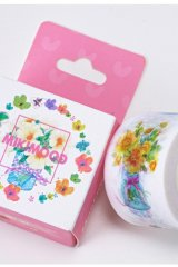SALE- Kawaii Wide Paper Masking Tape - Flower Story
