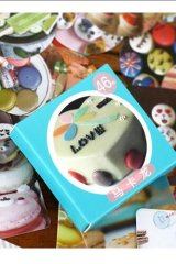 SALE - Lovely Paper Label Sticker Box -  cute macaron